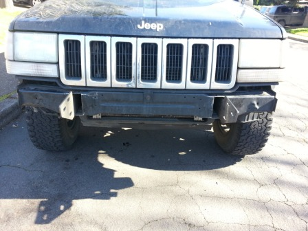 93 98 Zj Grand Front Bumper Mounting Brackets Diy Off Road